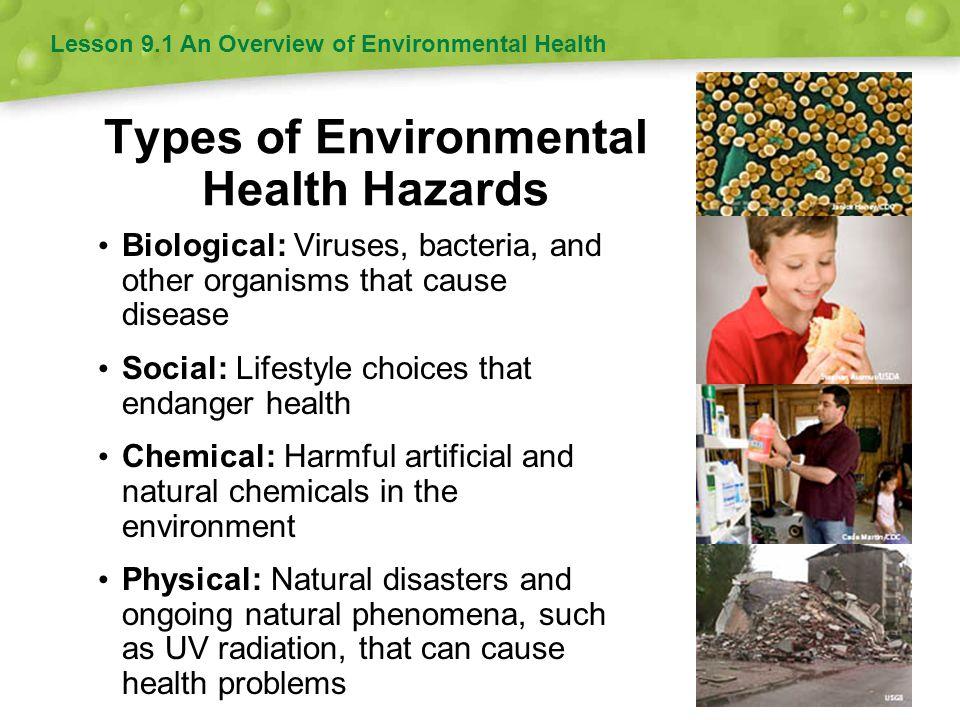Types of Environmental Health Hazards