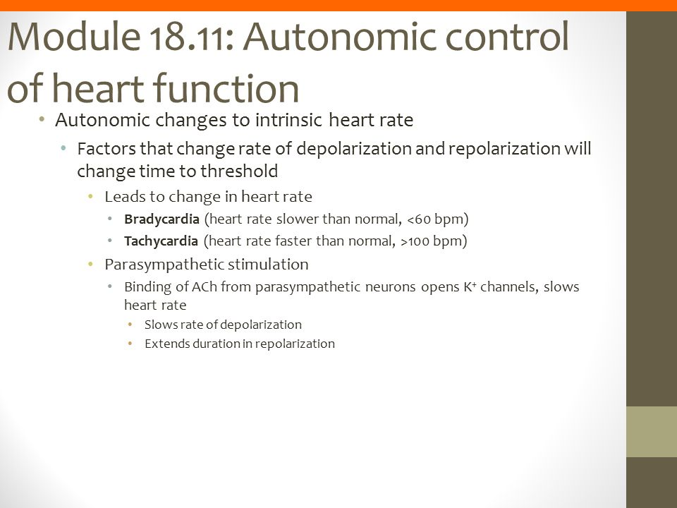 Module 18.11: Autonomic control of heart function