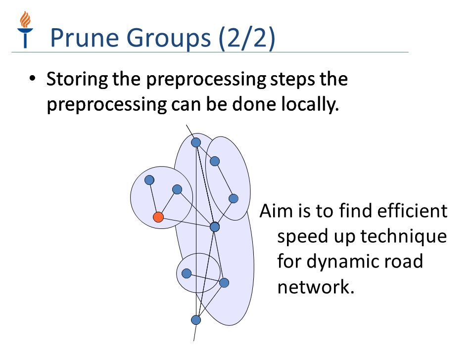 Prune Groups (2/2) Storing the preprocessing steps the preprocessing can be done locally.
