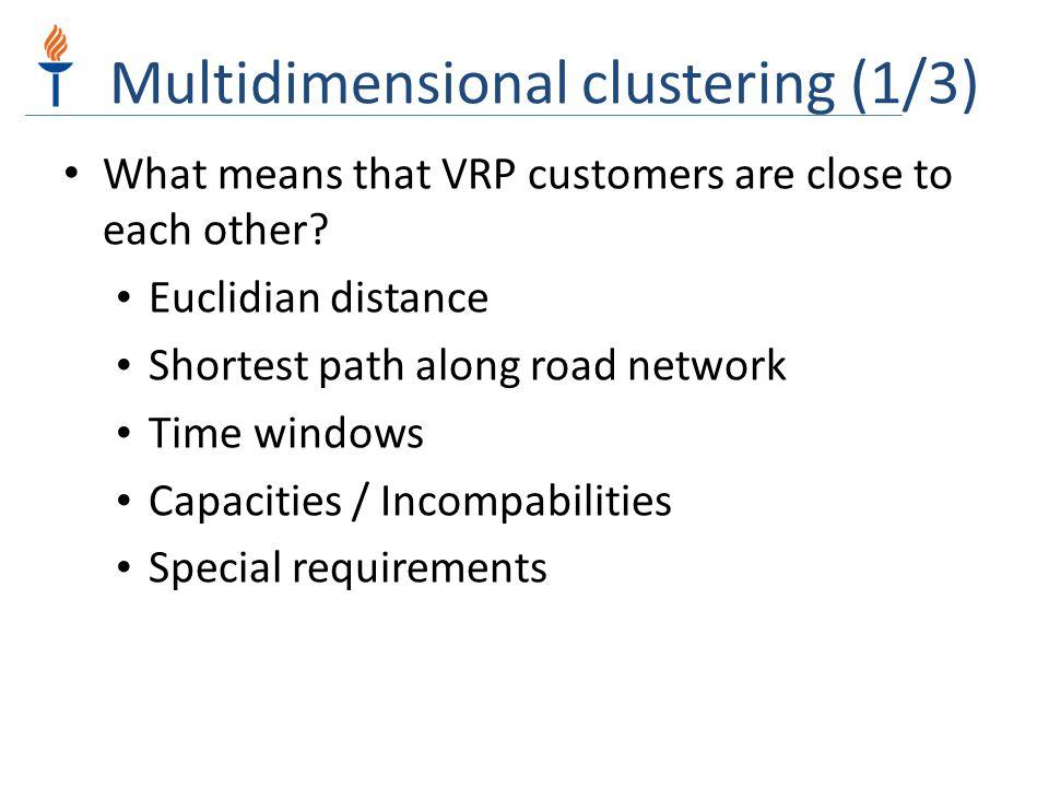 Multidimensional clustering (1/3)