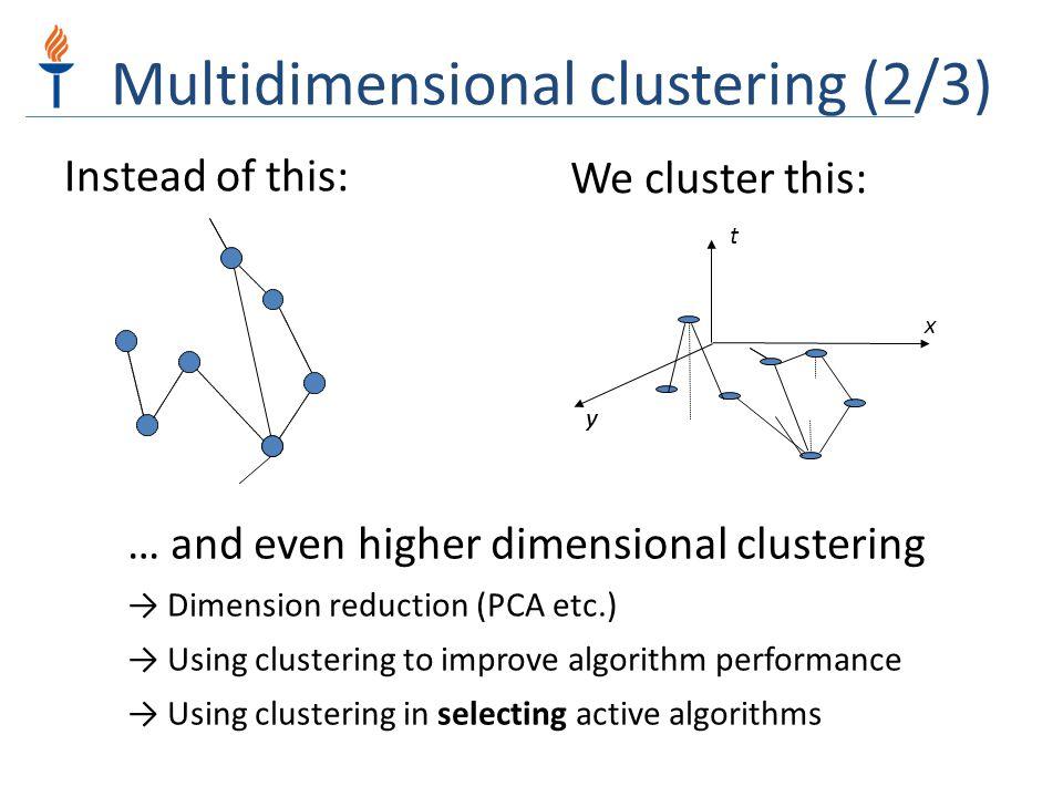 Multidimensional clustering (2/3)