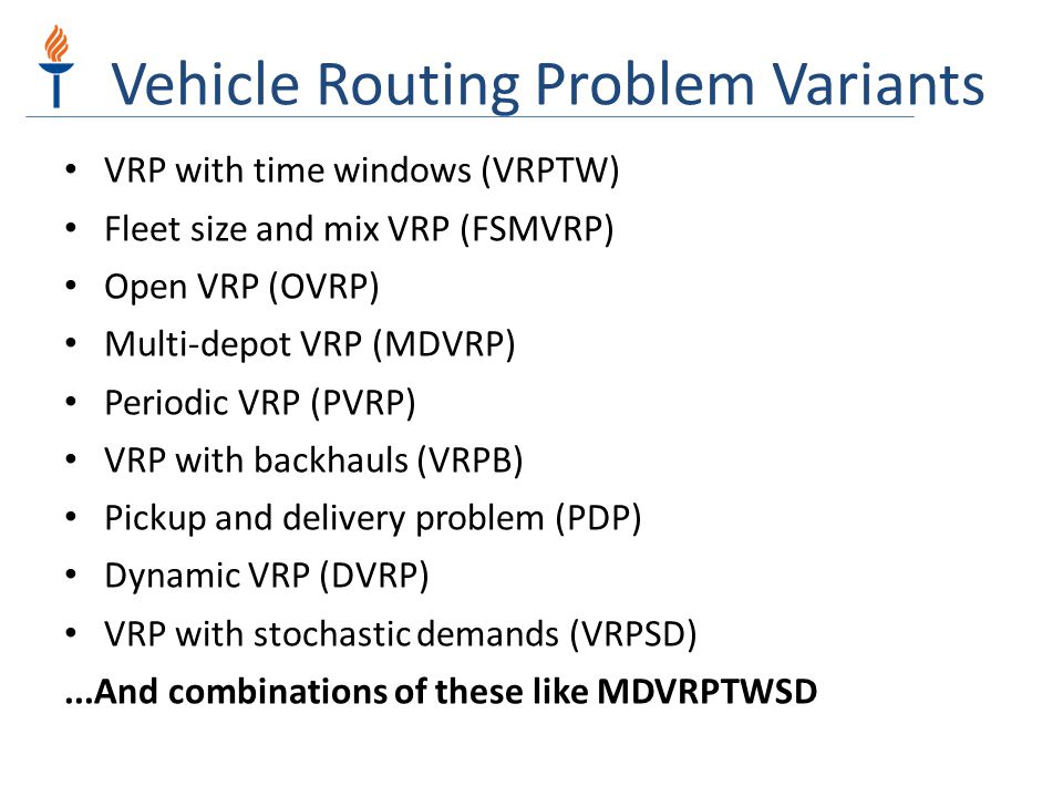 Vehicle Routing Problem Variants