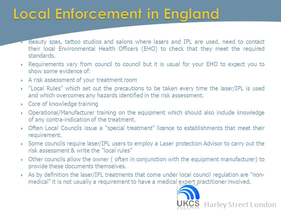 Local Enforcement in England