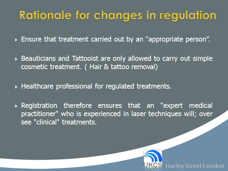 Rationale for changes in regulation