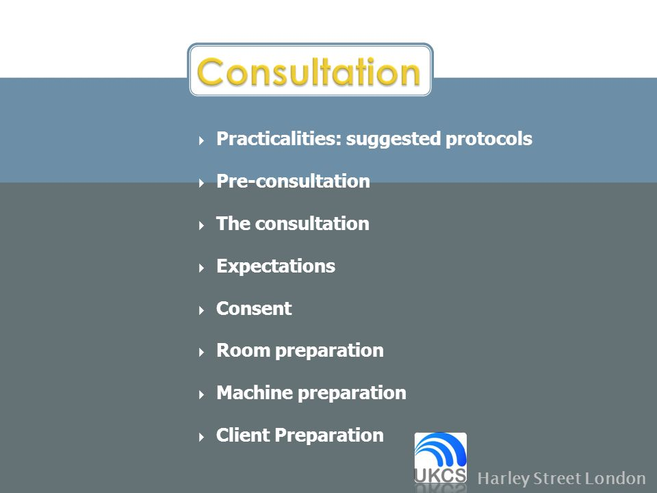 Consultation Practicalities: suggested protocols Pre-consultation