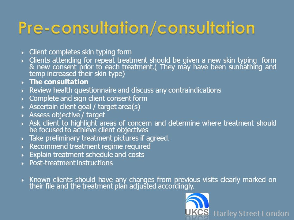 Pre-consultation/consultation