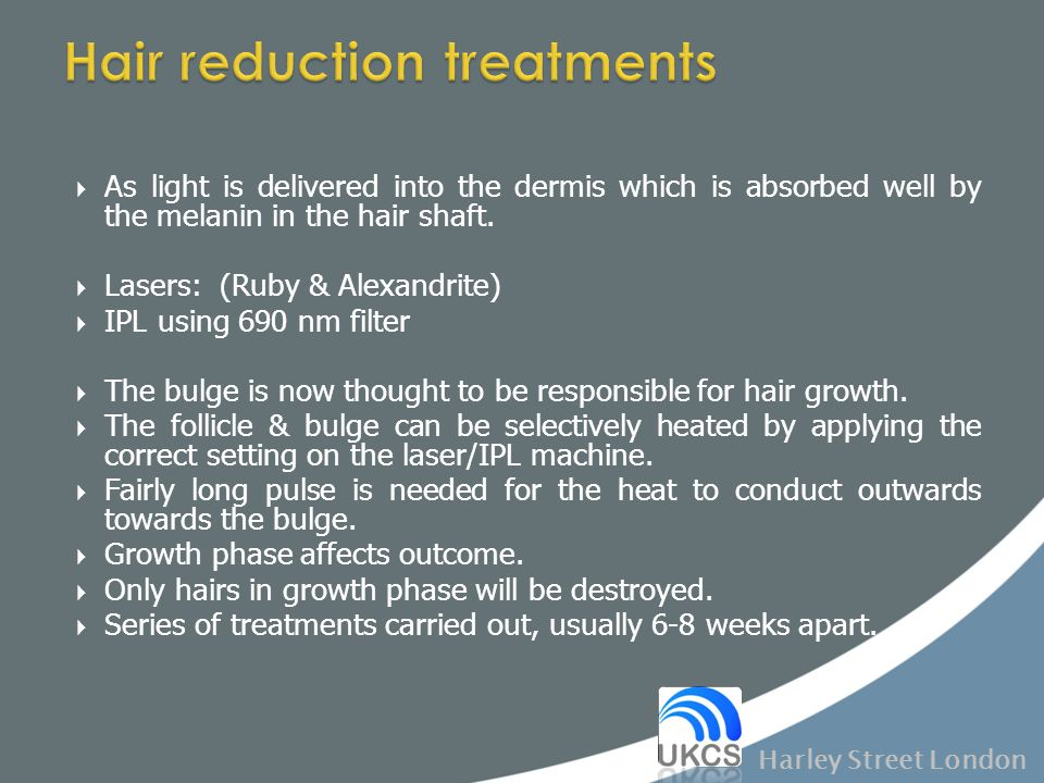Hair reduction treatments
