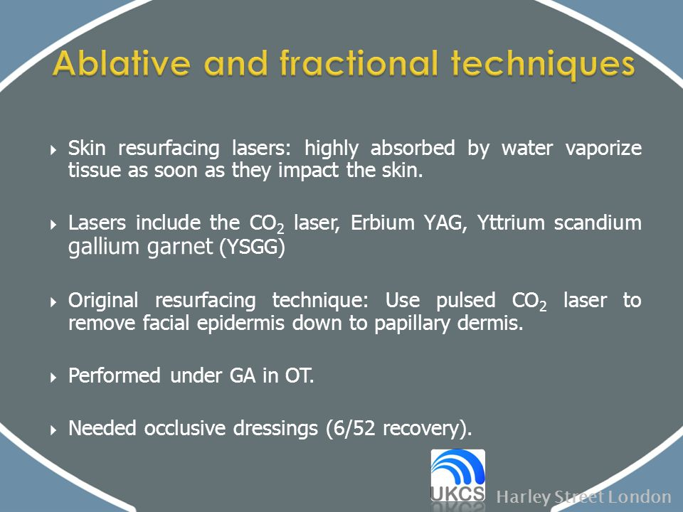 Ablative and fractional techniques