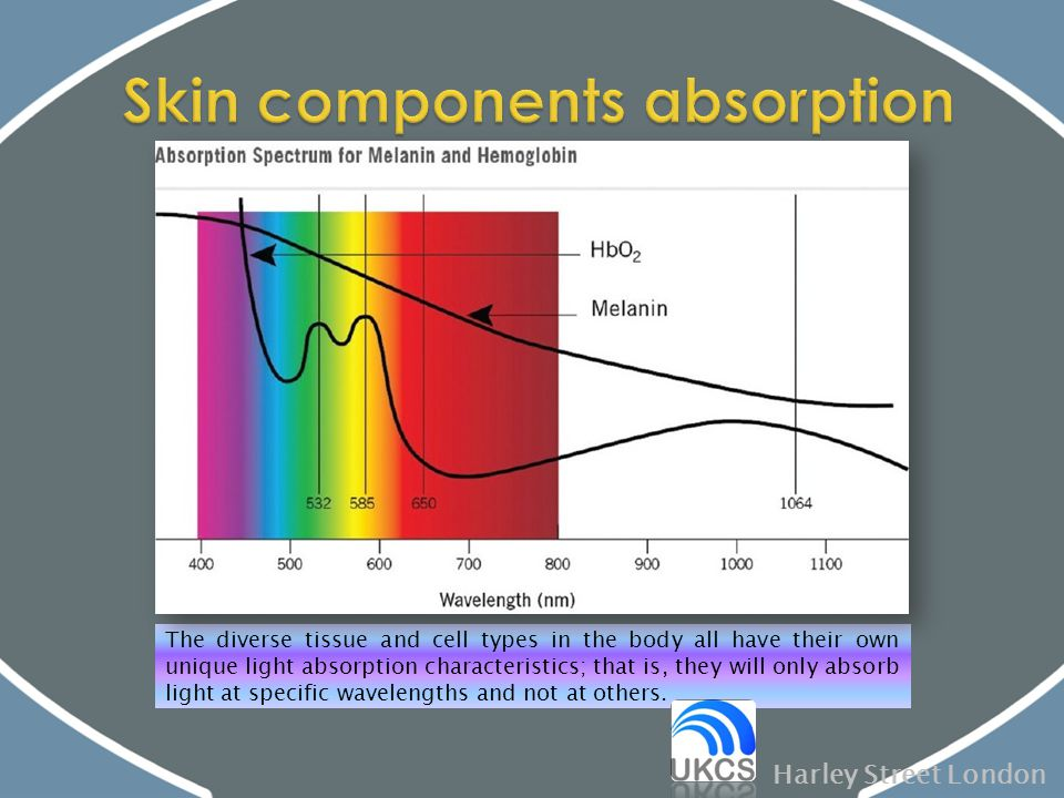 Skin components absorption