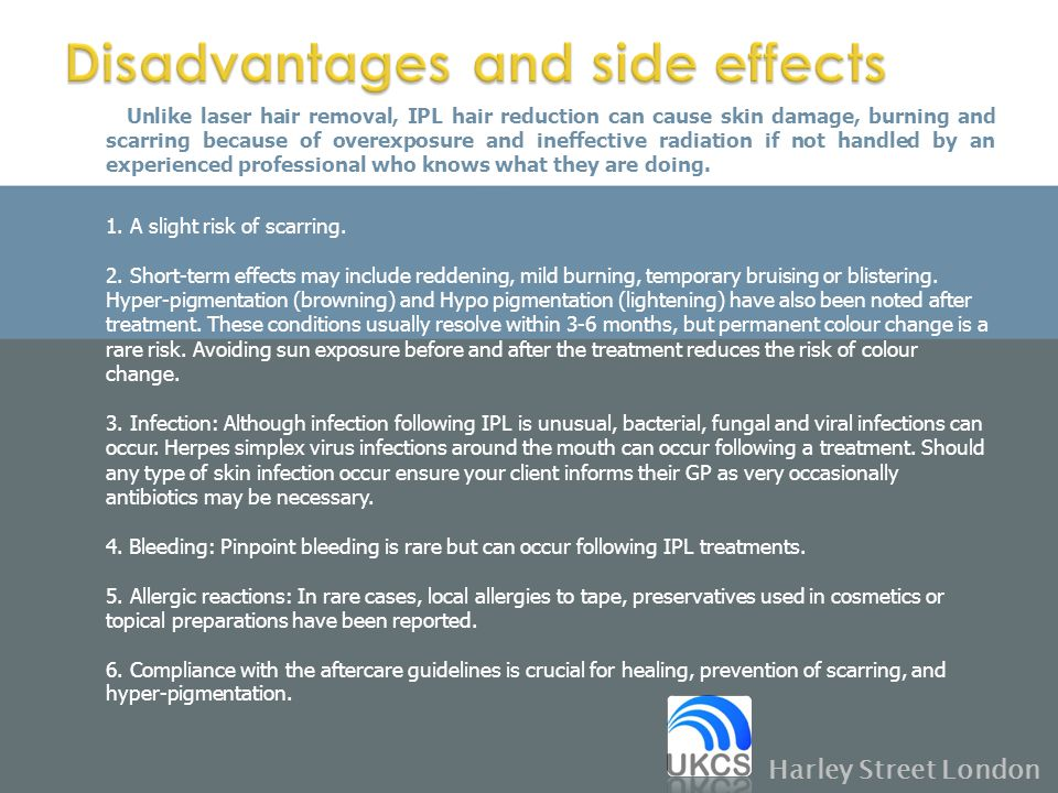 Disadvantages and side effects
