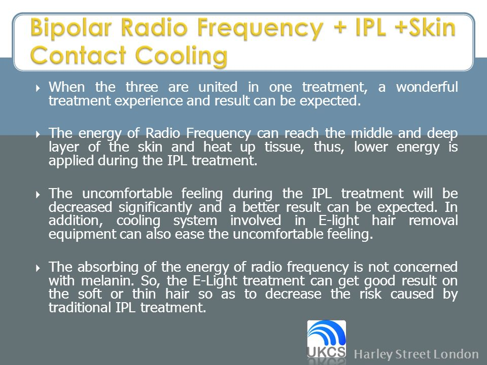 Bipolar Radio Frequency + IPL +Skin Contact Cooling
