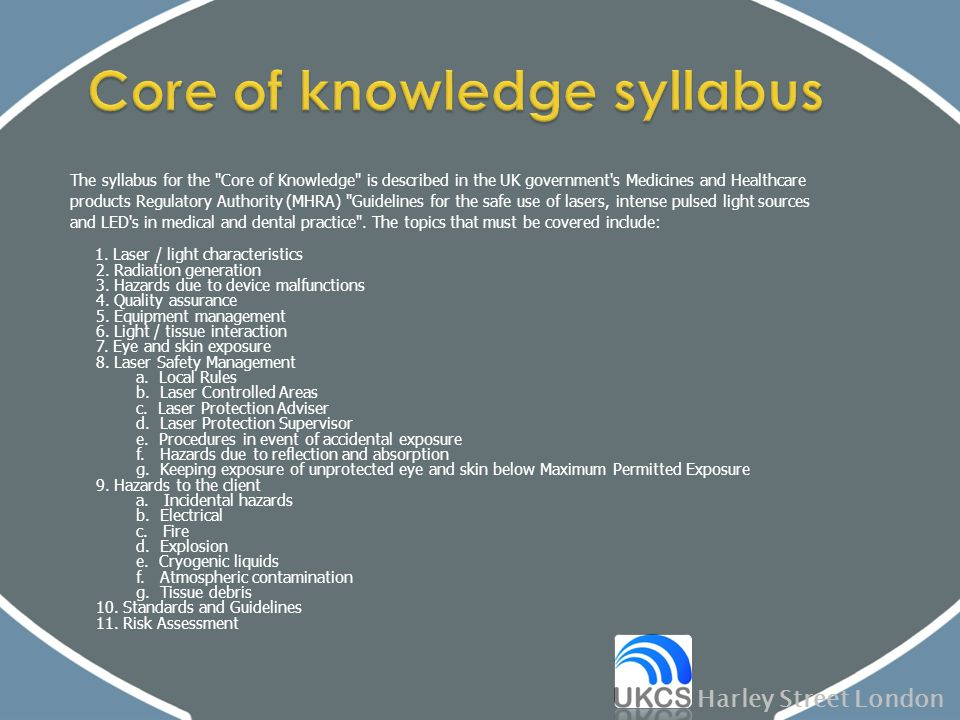 Core of knowledge syllabus