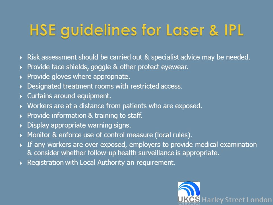 HSE guidelines for Laser & IPL