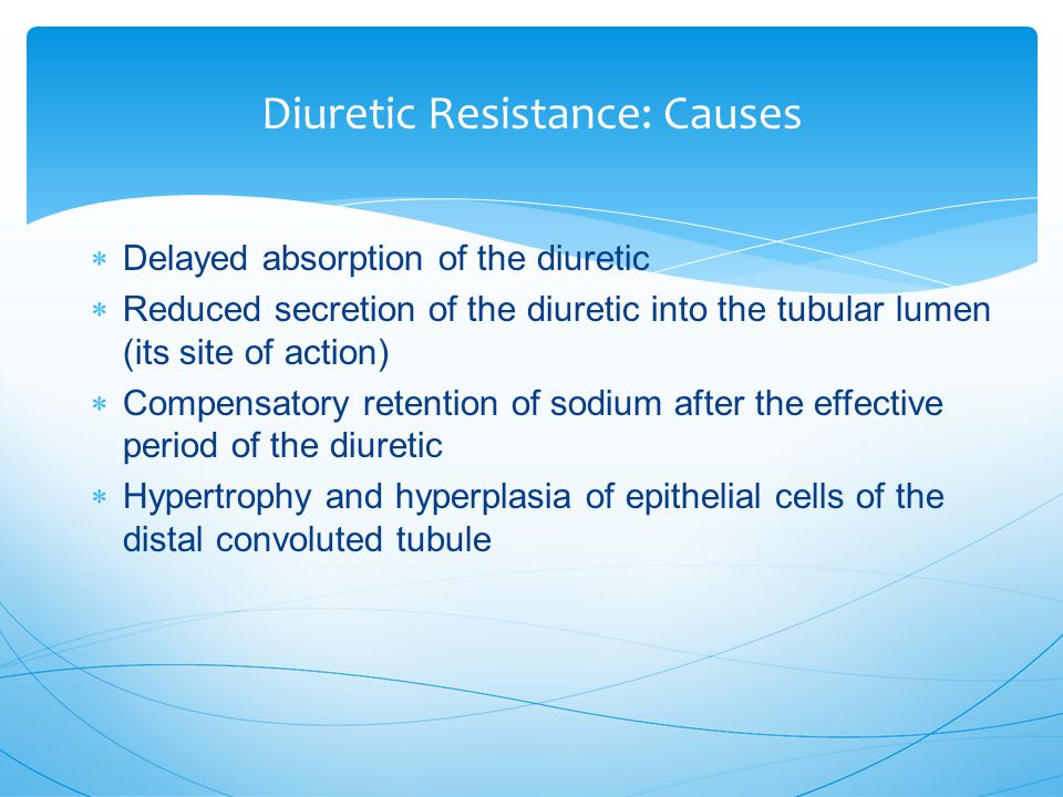 Diuretic Resistance: Causes