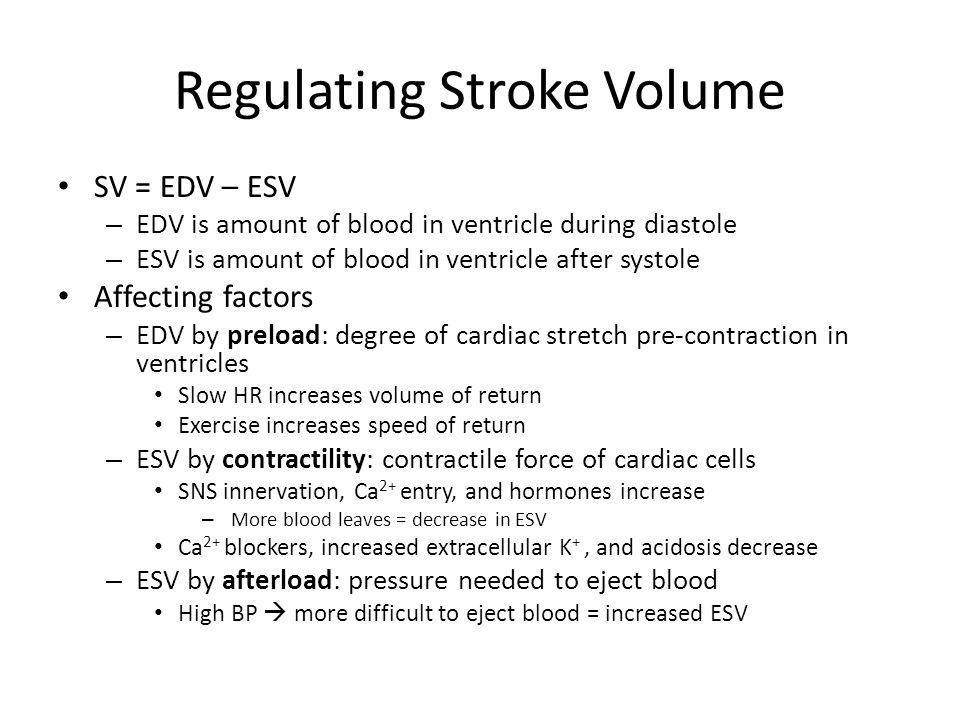 Regulating Stroke Volume