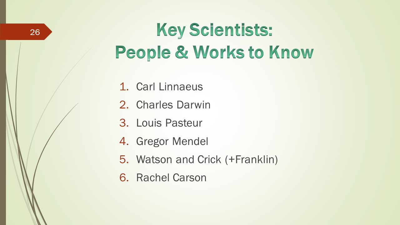 Key Scientists: People & Works to Know