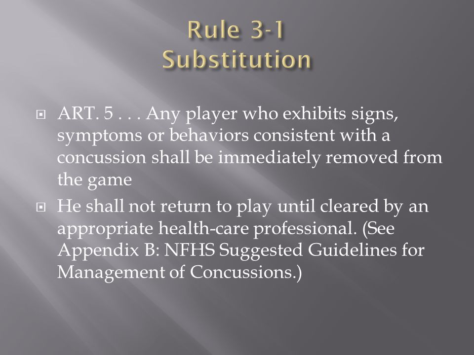 Rule 3-1 Substitution