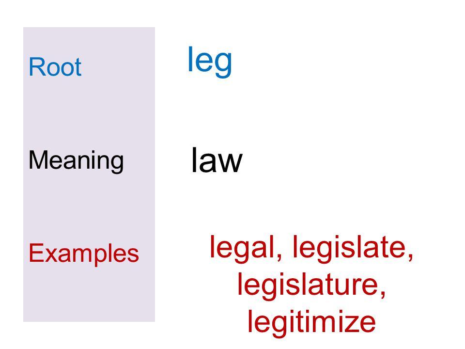 legal, legislate, legislature,