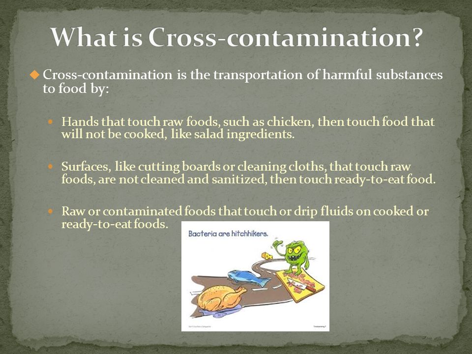 What is Cross-contamination