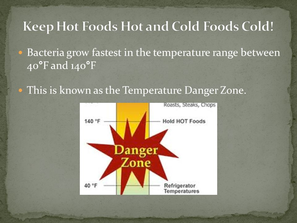 Keep Hot Foods Hot and Cold Foods Cold!