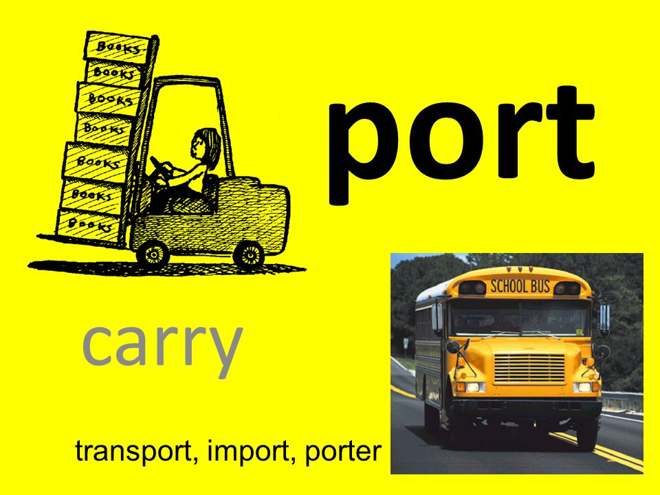 transport, import, porter