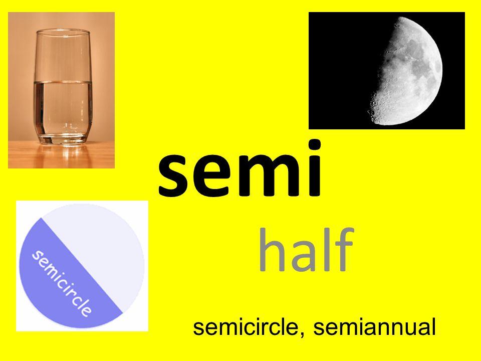 semicircle, semiannual