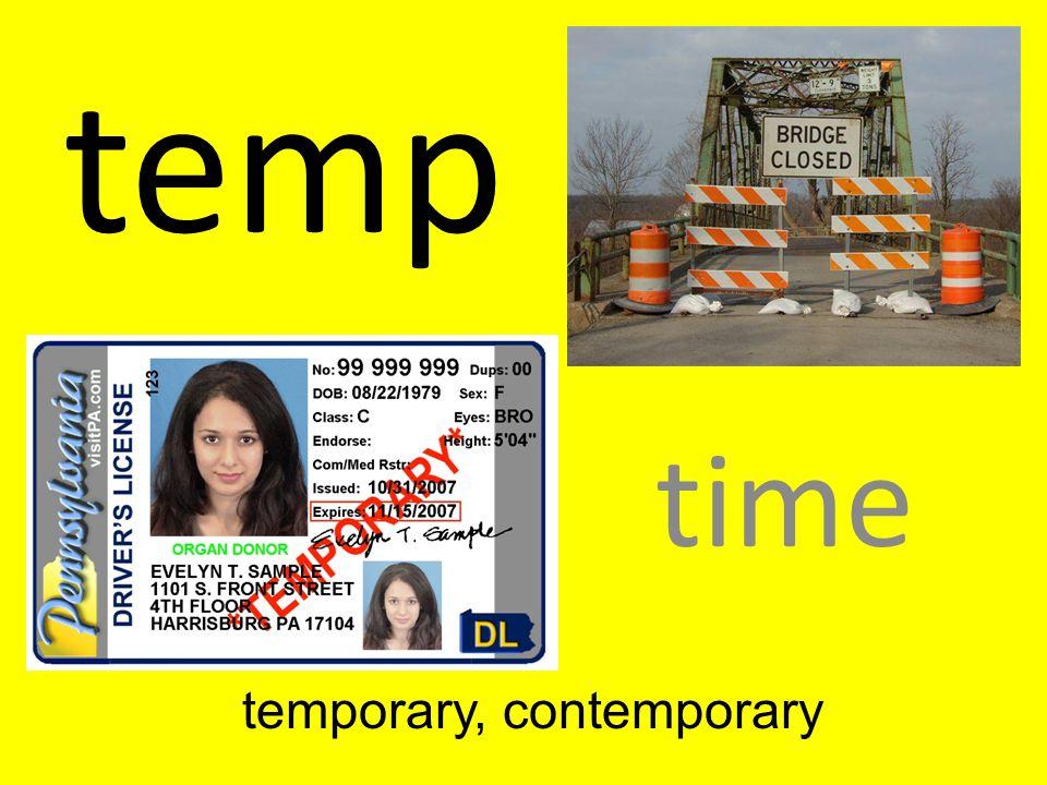 temporary, contemporary