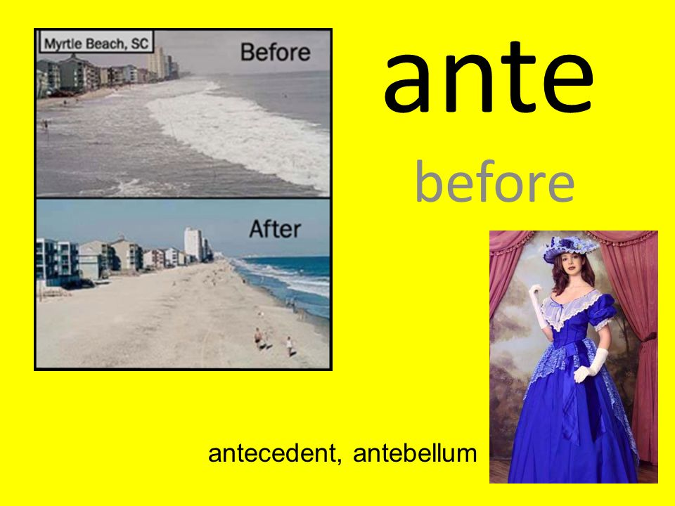 antecedent, antebellum
