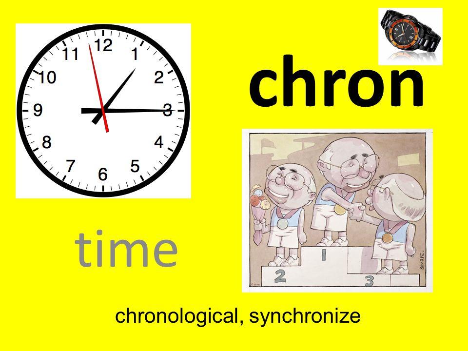 chronological, synchronize