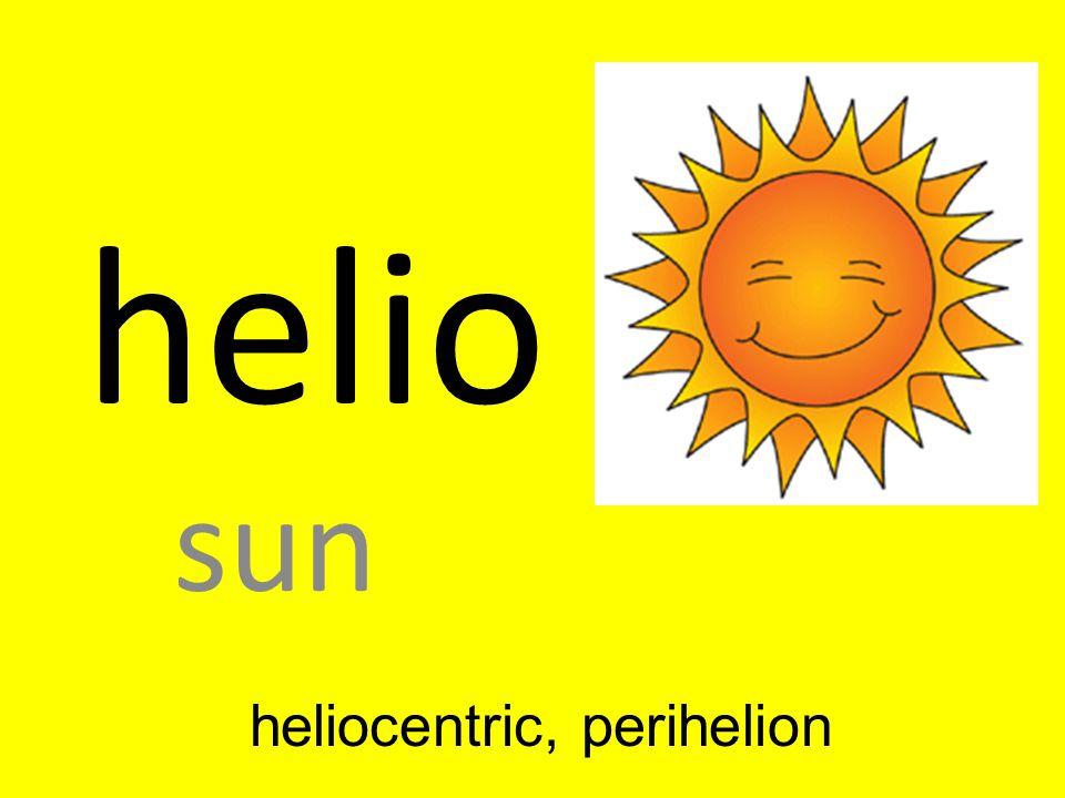 heliocentric, perihelion