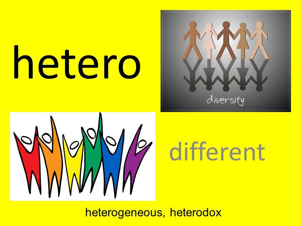 heterogeneous, heterodox