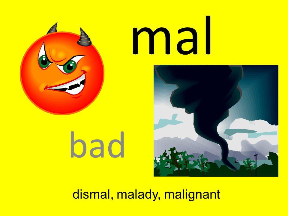 dismal, malady, malignant