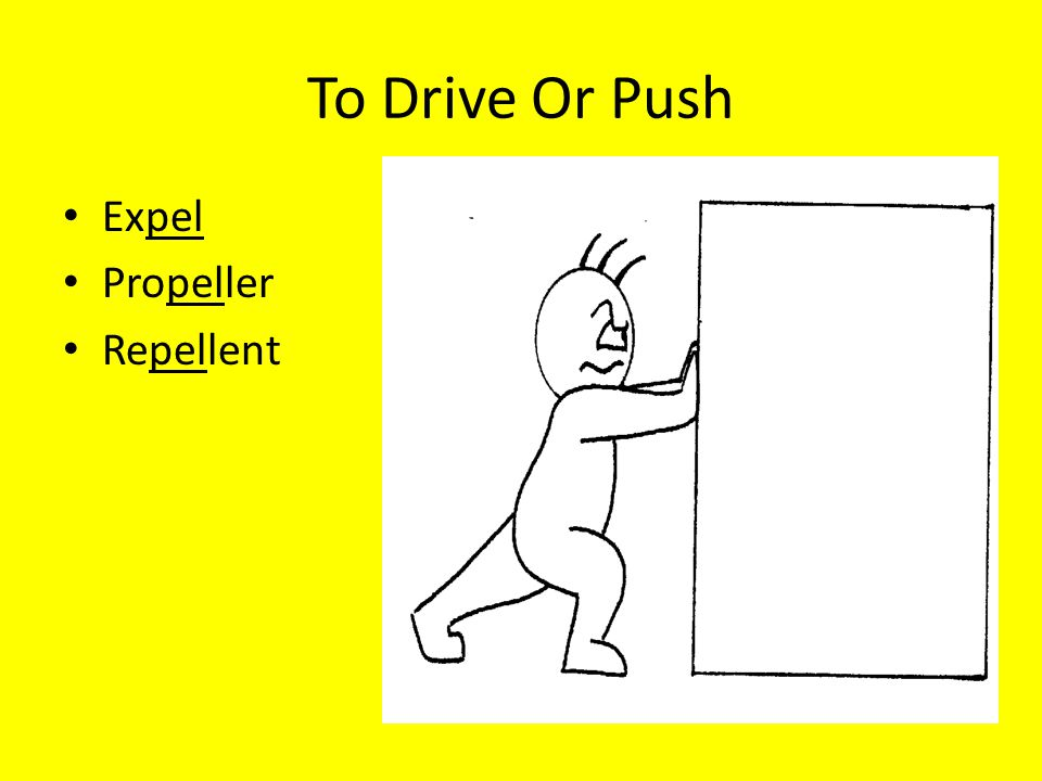To Drive Or Push Expel Propeller Repellent