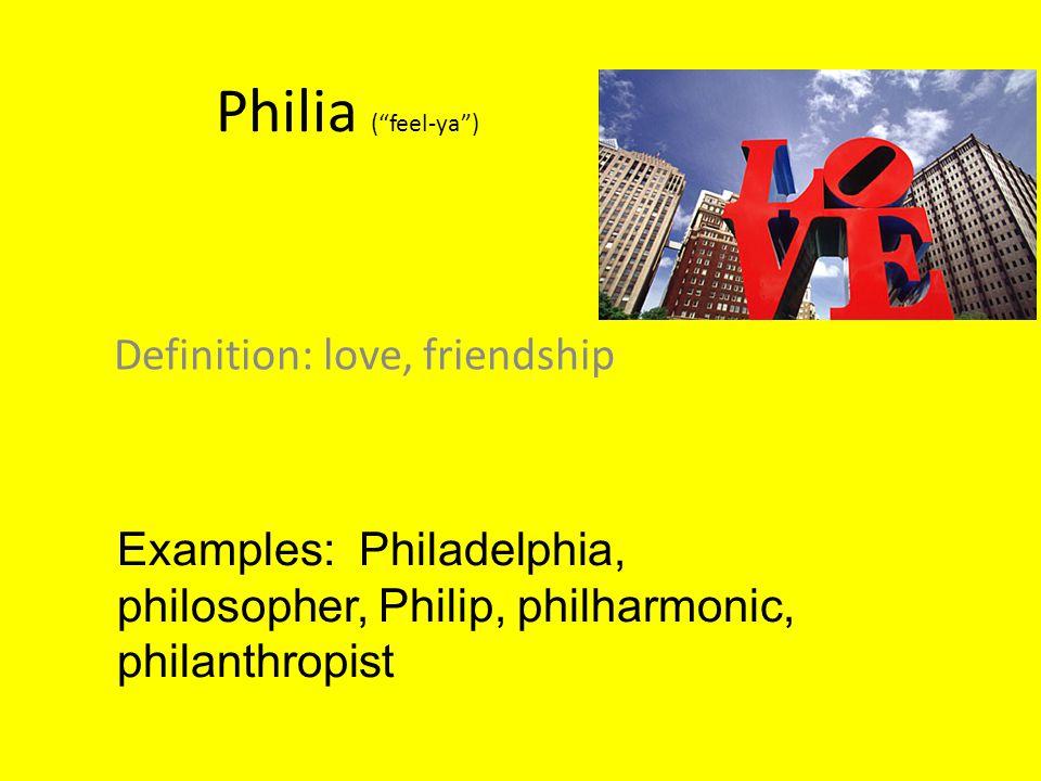 Definition: love, friendship