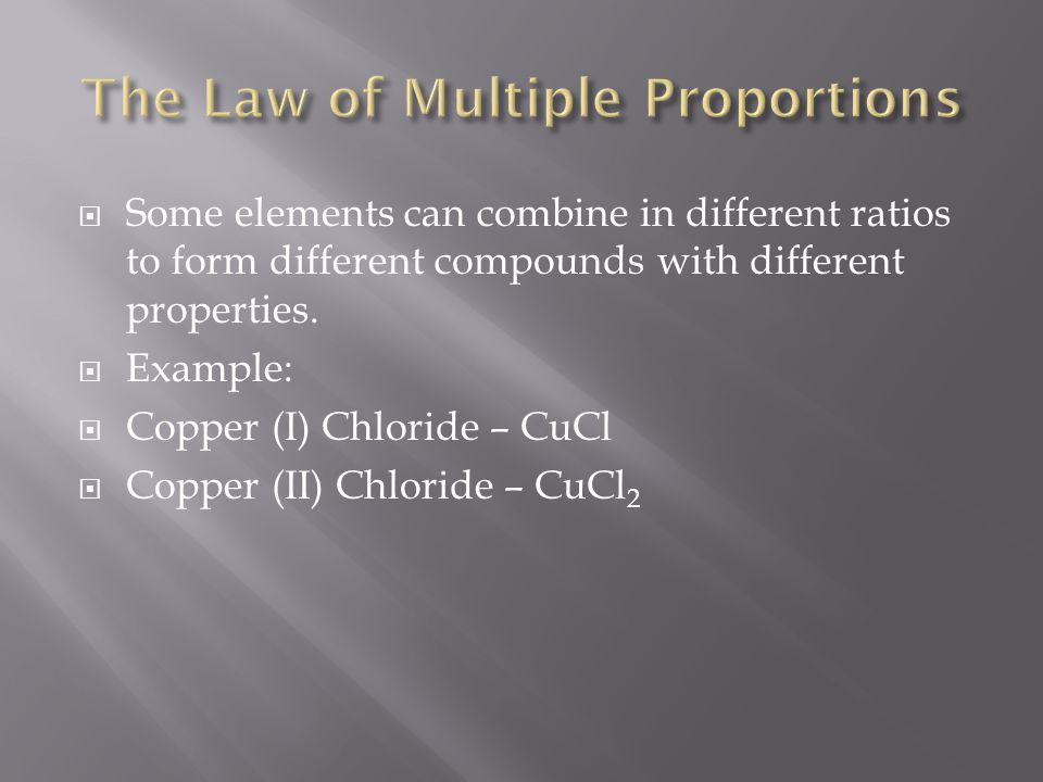 The Law of Multiple Proportions