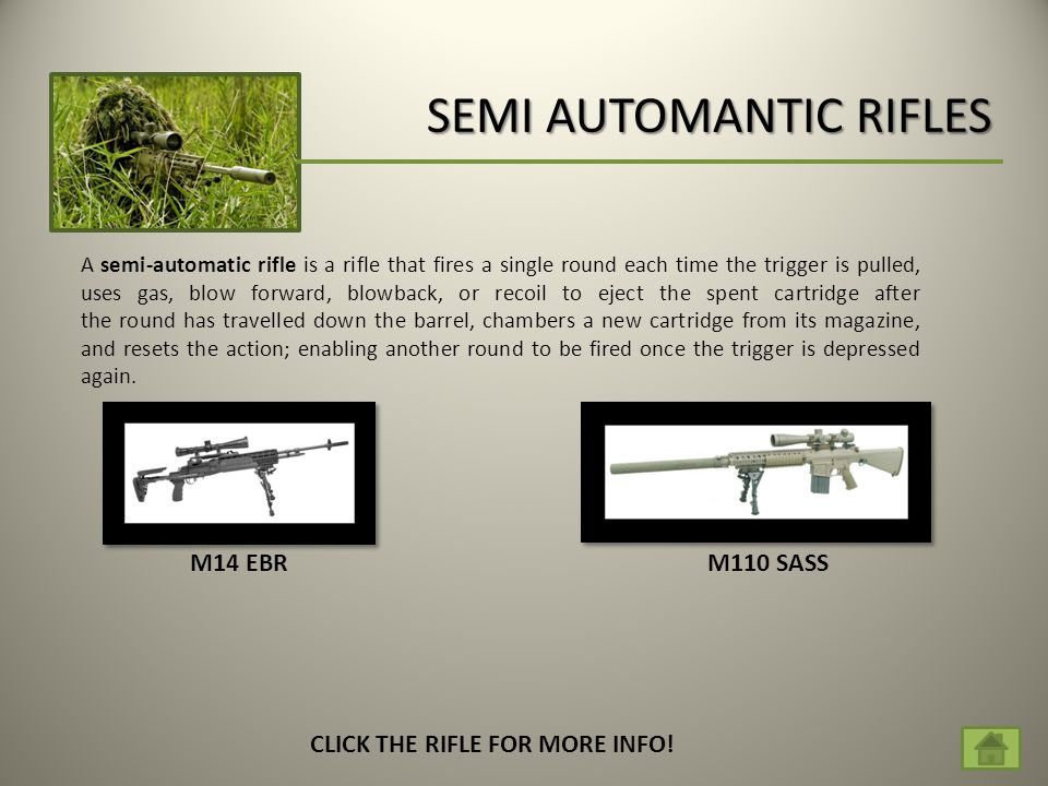 SEMI AUTOMANTIC RIFLES