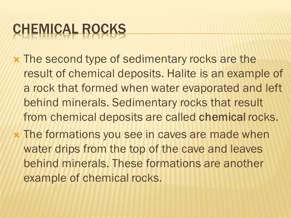 Chemical Rocks