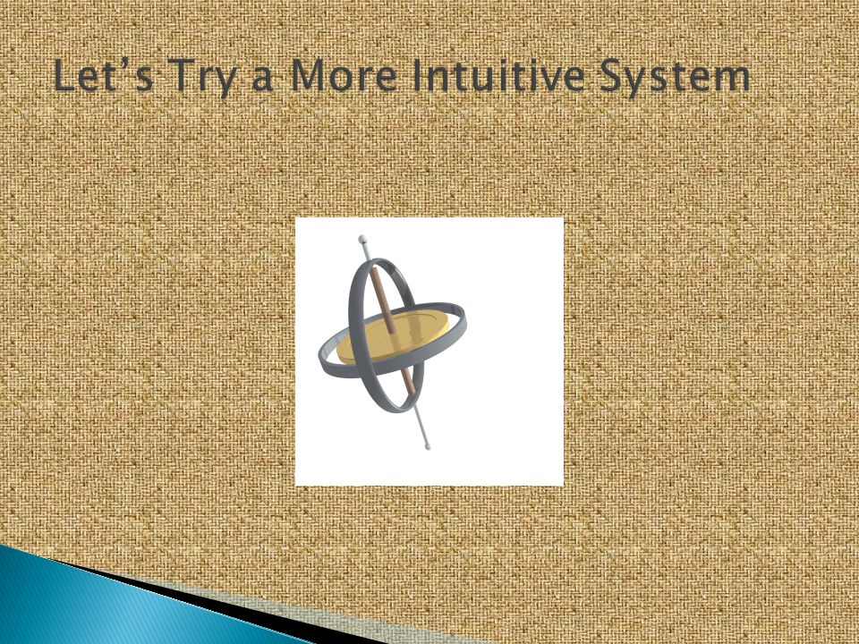 Let's Try a More Intuitive System