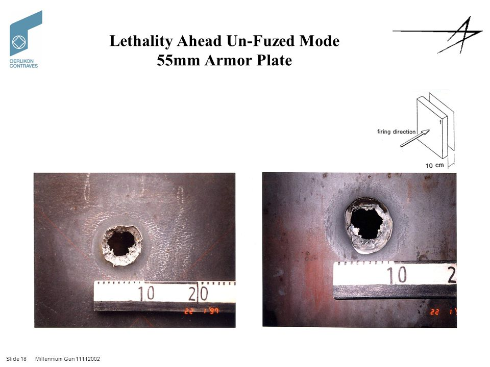 Lethality Ahead Un-Fuzed Mode 55mm Armor Plate