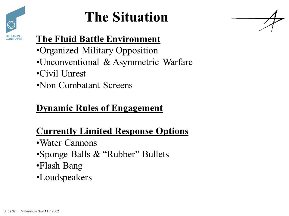 The Situation The Fluid Battle Environment