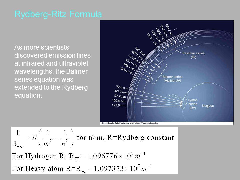 Rydberg-Ritz Formula