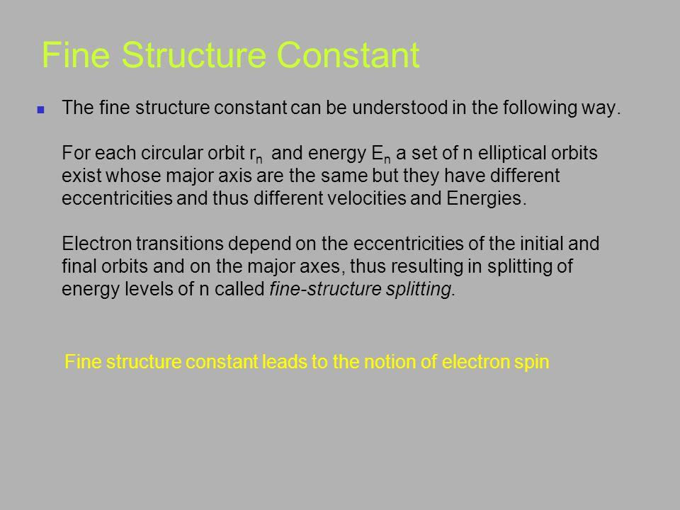 Fine Structure Constant