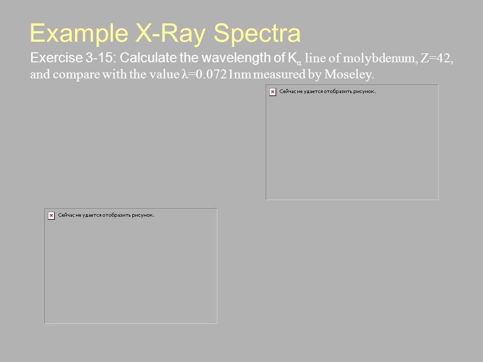 Example X-Ray Spectra