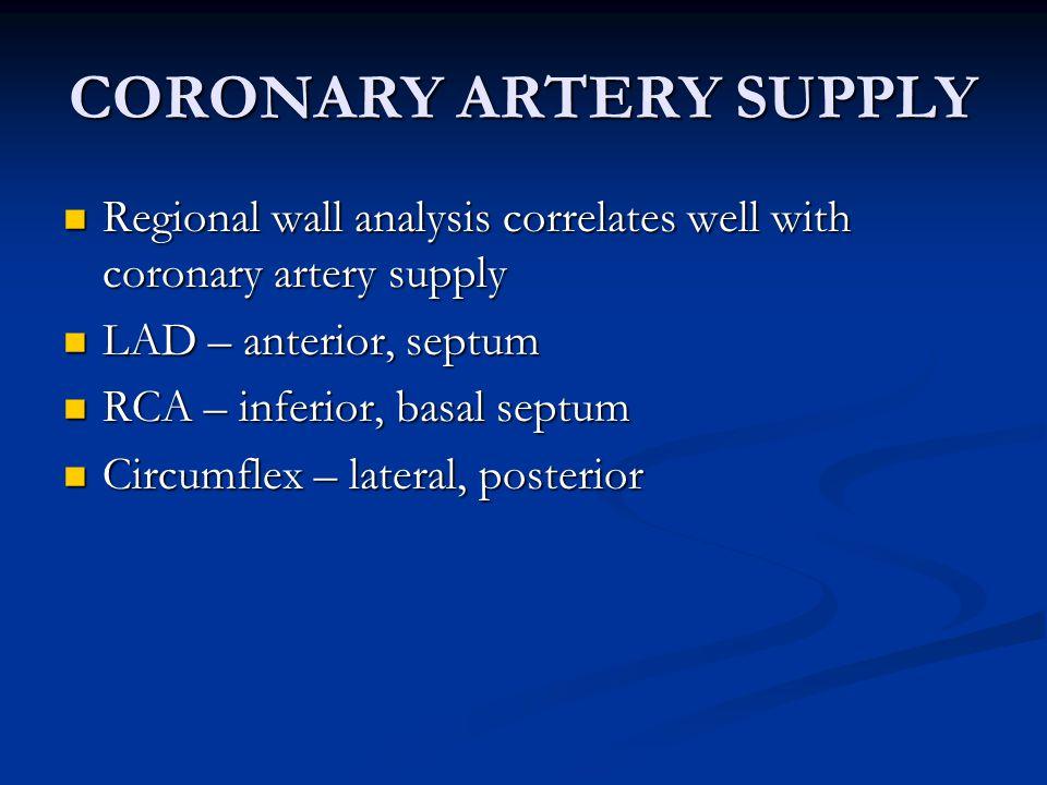 CORONARY ARTERY SUPPLY