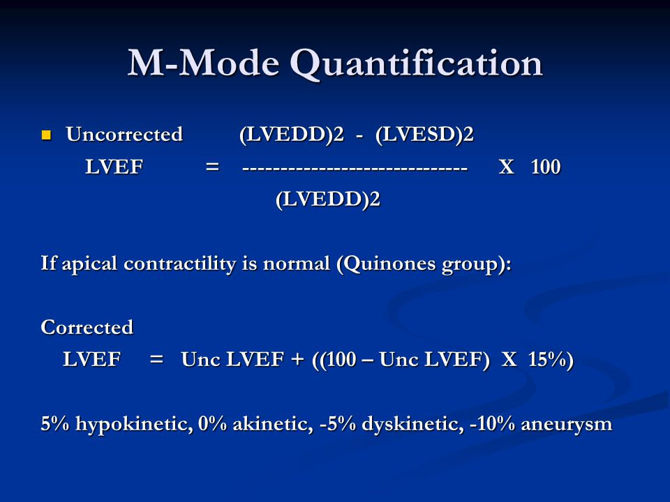 M-Mode Quantification
