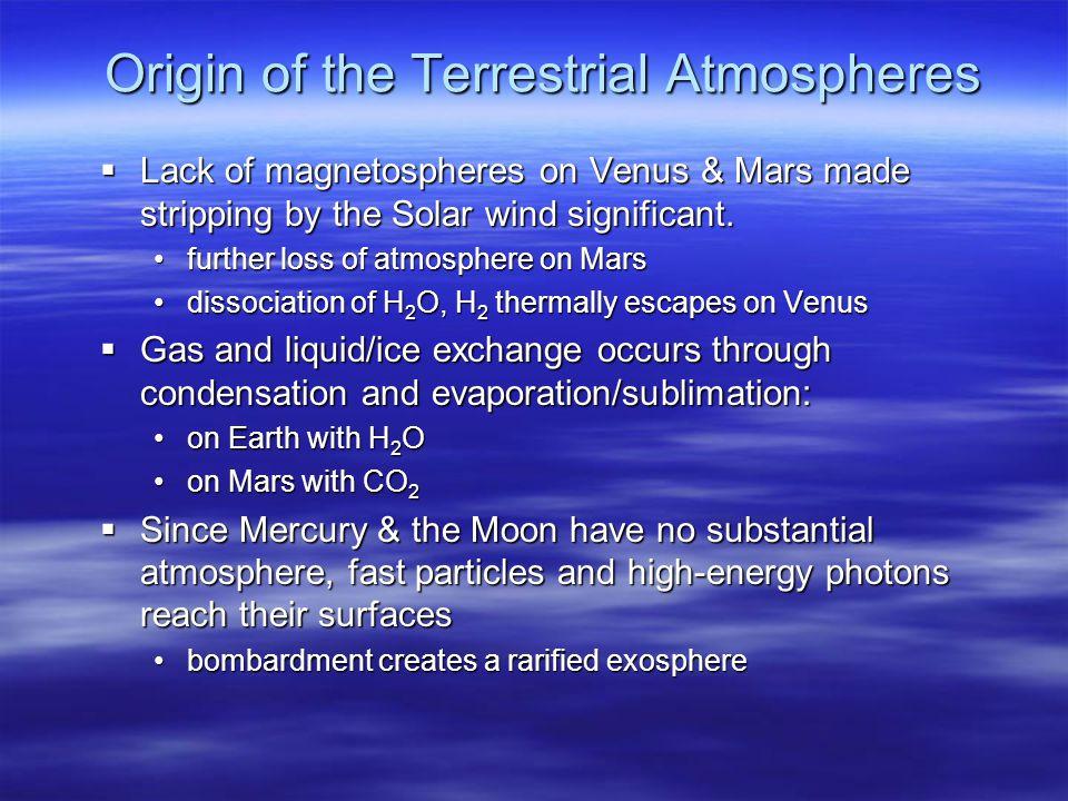 Origin of the Terrestrial Atmospheres