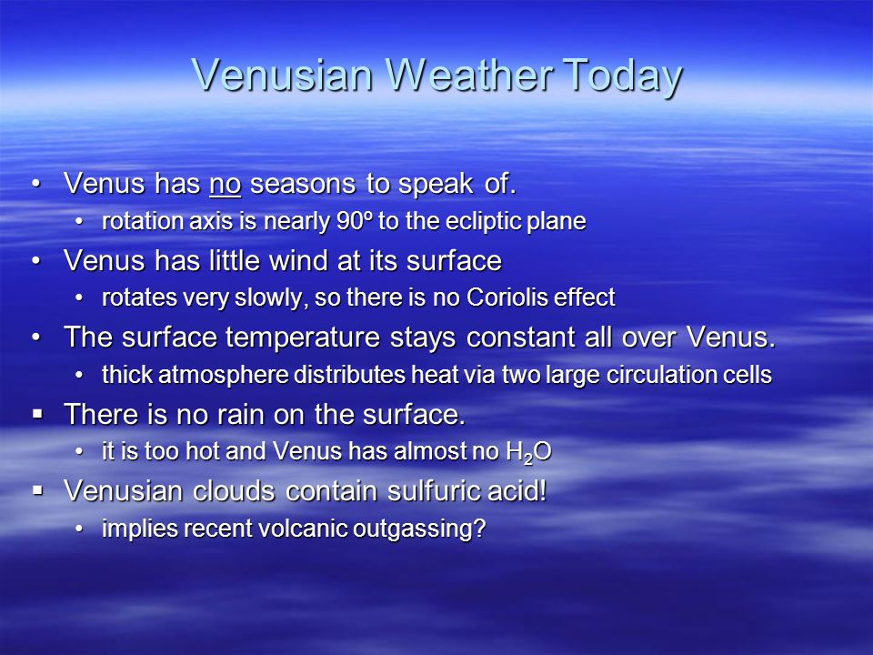 Venusian Weather Today