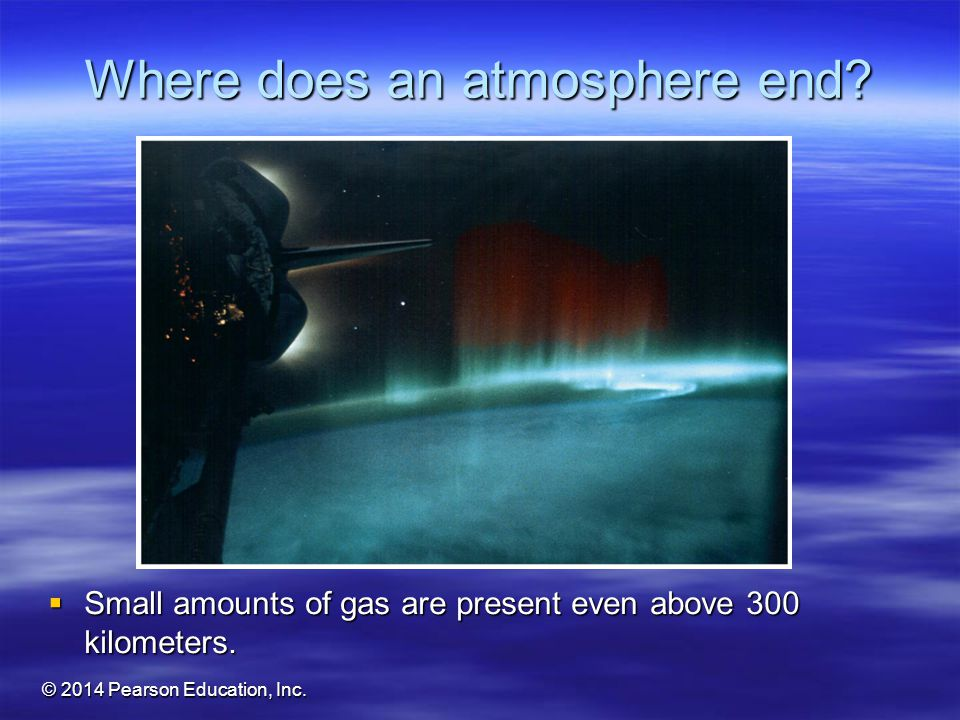 Where does an atmosphere end
