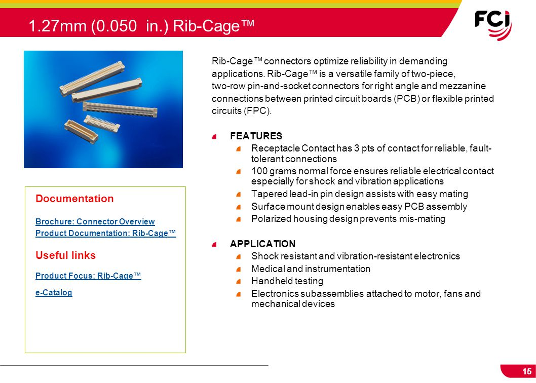 1.27mm (0.050 in.) Rib-Cage™ Documentation Useful links