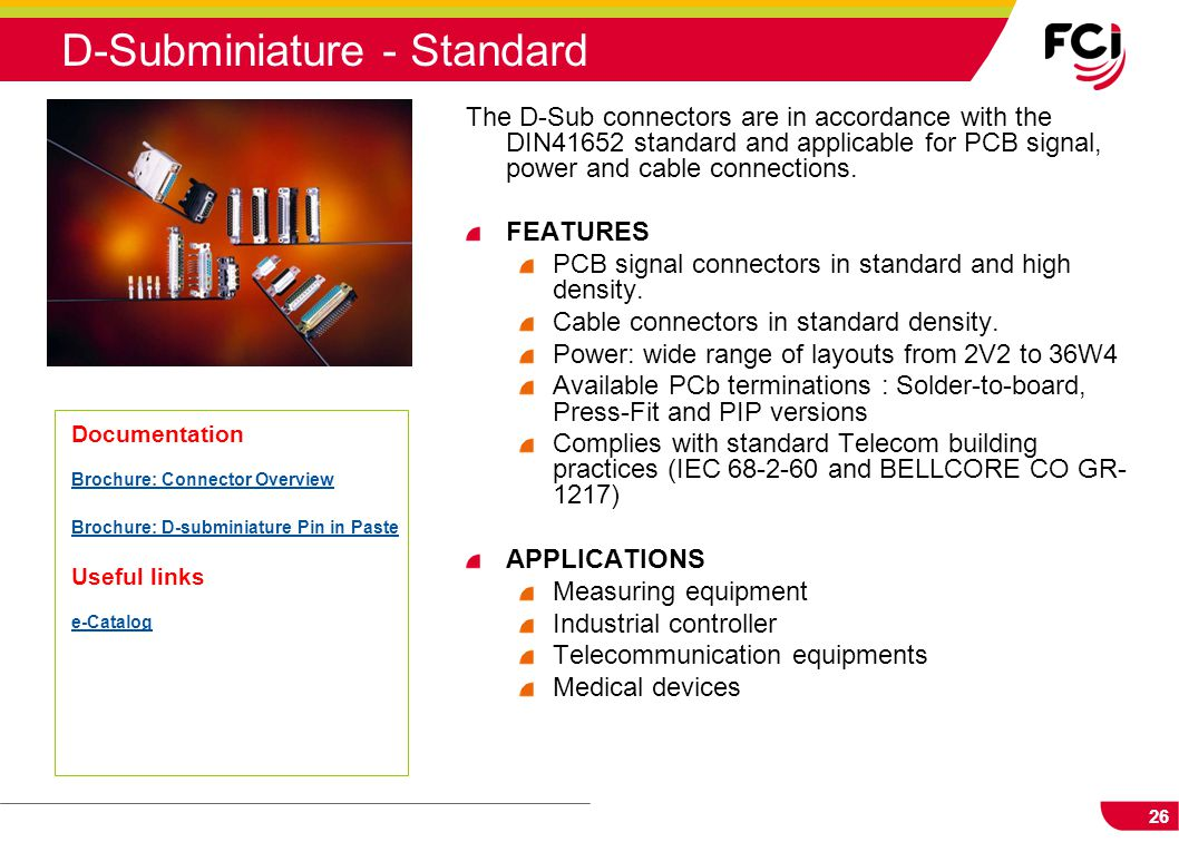 D-Subminiature - Standard